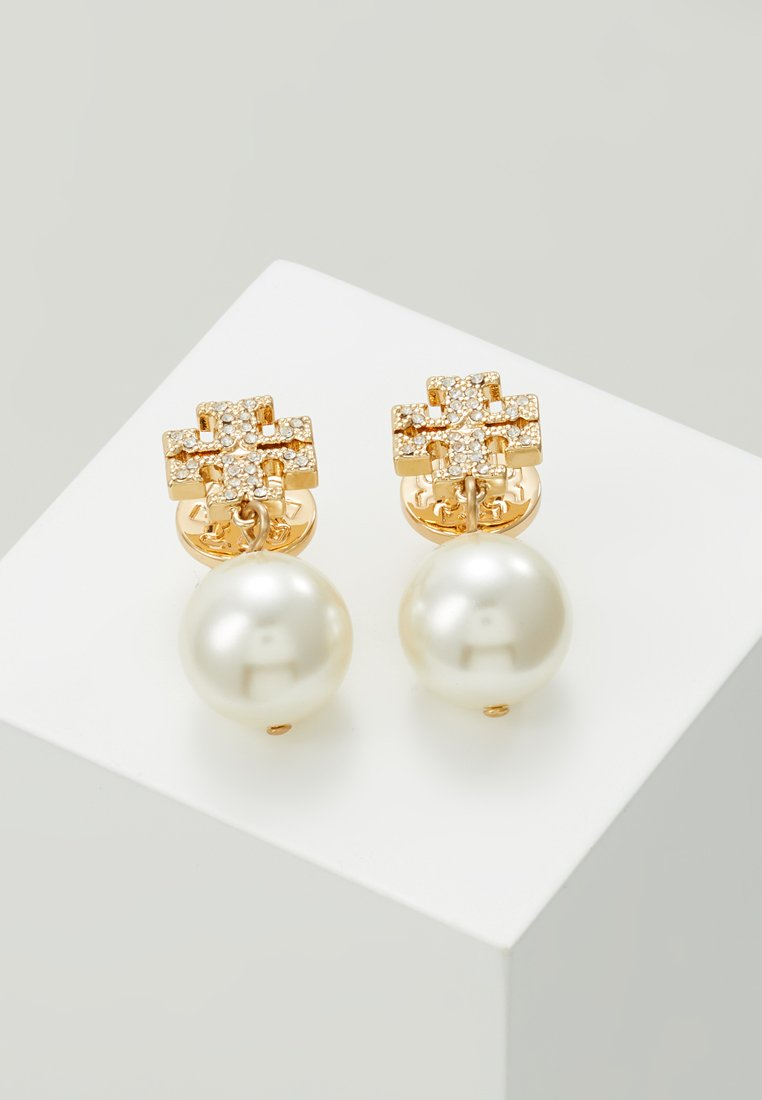 Tory Burch - LOGO DROP EARRING - Øreringe - gold-coloured