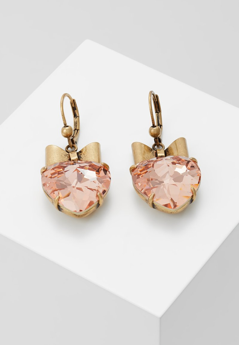 Tory Burch - HEART EARRING - Pendientes - pale papaya