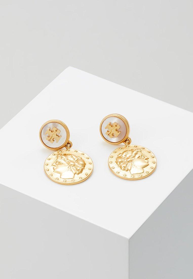 Tory Burch - COIN SHORT DROP EARRINGS - Øreringe - gold-coloured