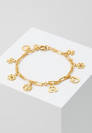 LOGO CHARM BRACELET - Bracelet - gold-coloured