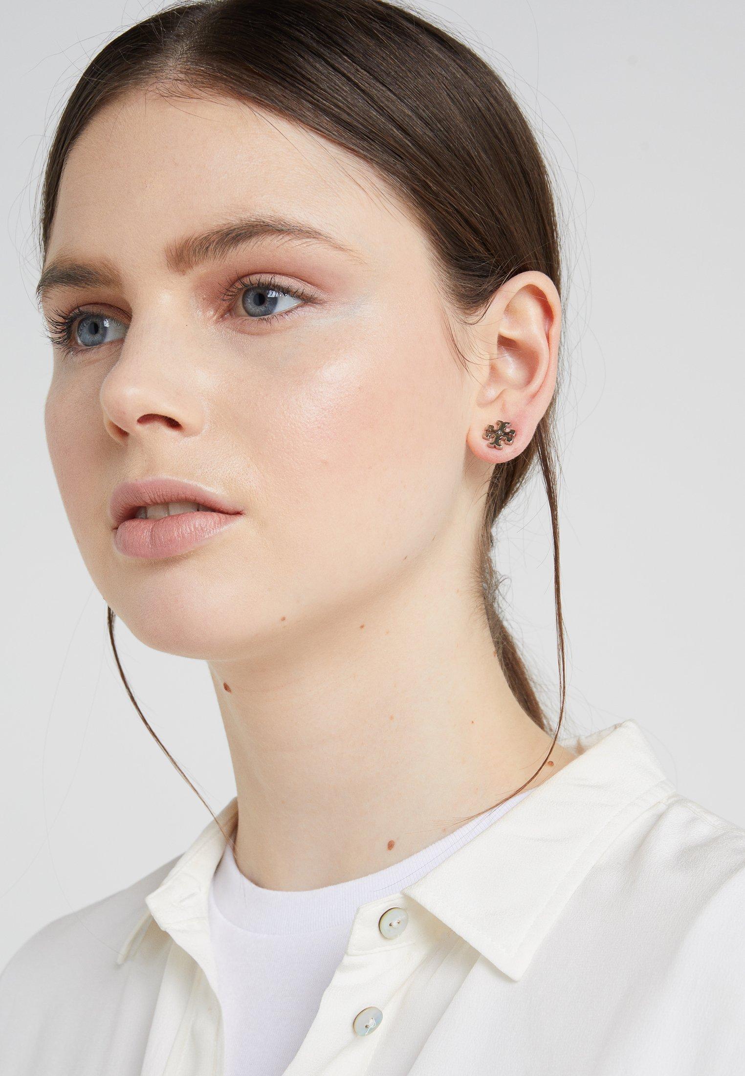 Tory Burch LOGO EARRING - Örhänge - silver-coloured