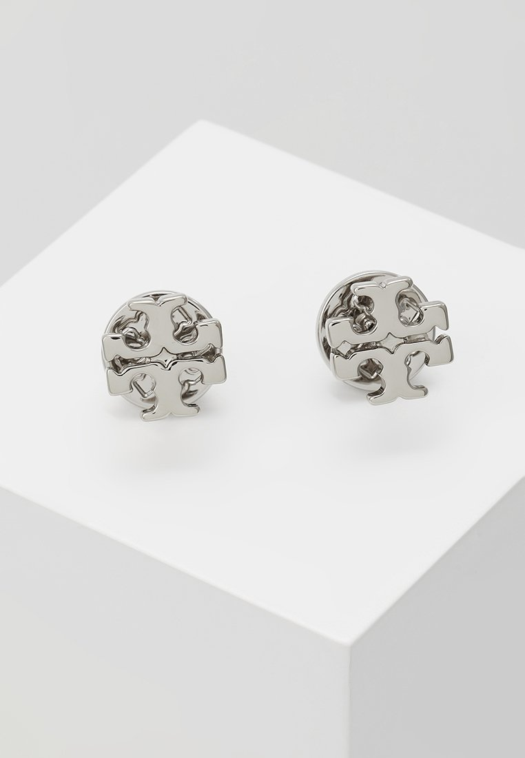 Tory Burch - LOGO EARRING - Kolczyki - silver-coloured