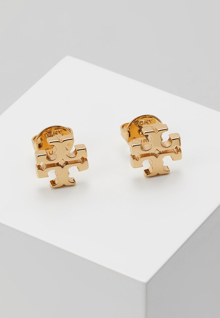 Tory Burch - LOGO EARRING - Orecchini - gold-coloured
