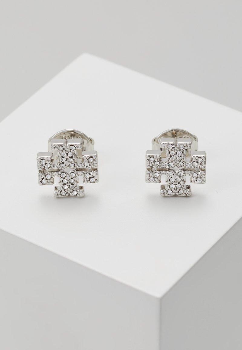 Tory Burch - LOGO EARRING - Earrings -  silver-coloured