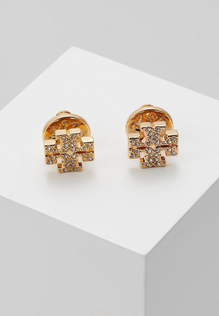Tory Burch - LOGO EARRING - Náušnice - gold-coloured /crystal