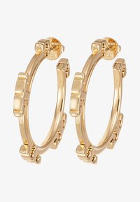 Tory Burch - SERIF HOOP EARRING - Korvakorut - gold-coloured - 3