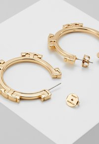 Tory Burch - SERIF HOOP EARRING - Korvakorut - gold-coloured - 2