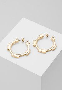 Tory Burch - SERIF HOOP EARRING - Korvakorut - gold-coloured - 0