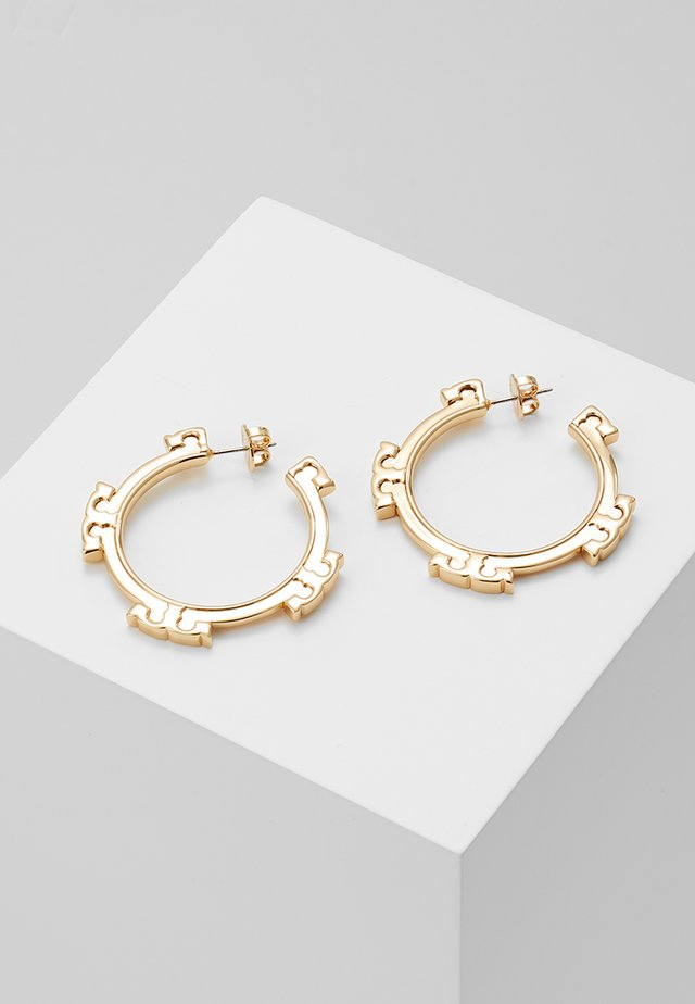 SERIF HOOP EARRING - Oorbellen - gold-coloured