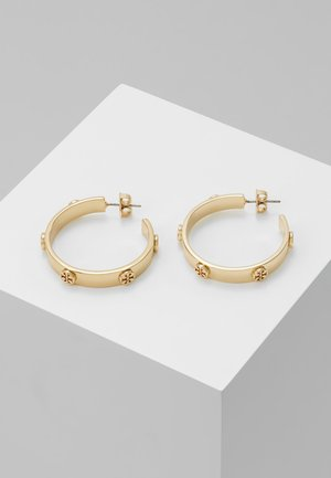 LOGO STUDDED HOOP EARRING - Korvakorut - gold-coloured