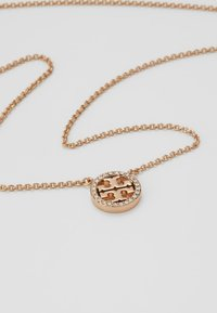 Tory Burch - LOGO DELICATE NECKLACE - Collana - rose gold-coloured - 4