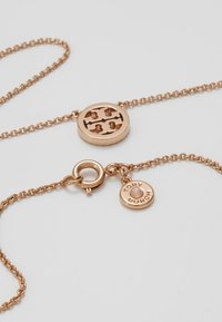 Tory Burch - LOGO DELICATE NECKLACE - Collana - rose gold-coloured - 2