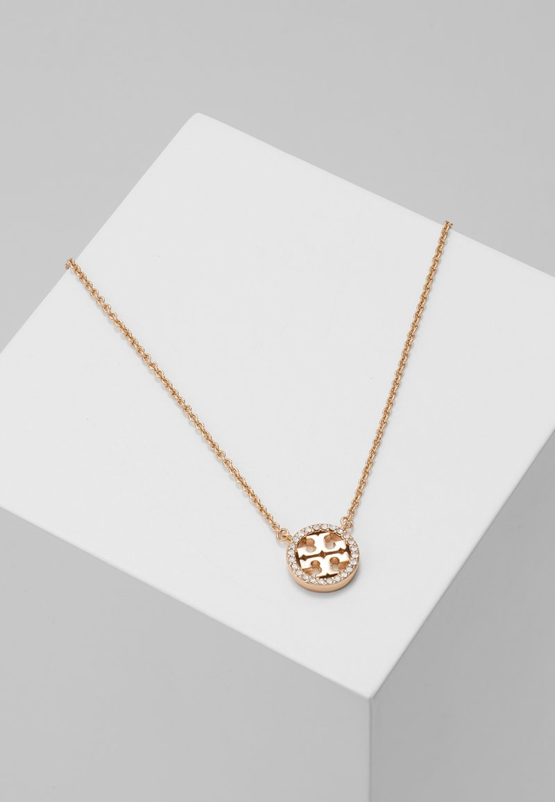 Tory Burch - LOGO DELICATE NECKLACE - Collana - rose gold-coloured