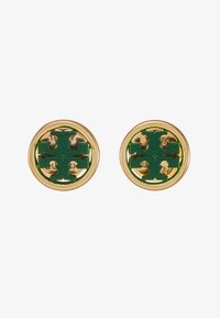 Tory Burch - MILLER CIRCLE EARRING - Pendientes - gold-coloured/equestrian green - 3