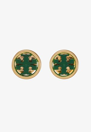MILLER CIRCLE EARRING - Pendientes - gold-coloured/equestrian green