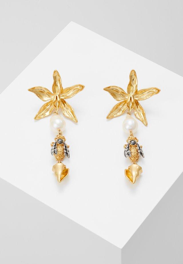 POETRY OF THINGS LINE EARRING - Earrings - gold-coloured