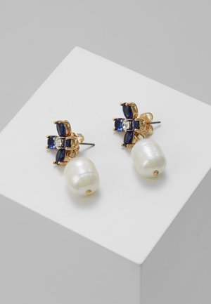 BUDDY CLOVER DROP EARRING - Pendientes - gold-coloured/blue
