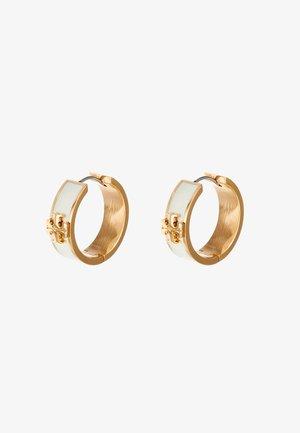 KIRA HUGGIE EARRING - Oorbellen - tory gold-coloured/new ivory