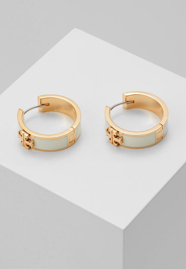 KIRA HUGGIE EARRING - Náušnice - tory gold-coloured/new ivory