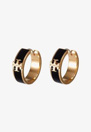 KIRA HUGGIE EARRING - Earrings - gold-coloured/black