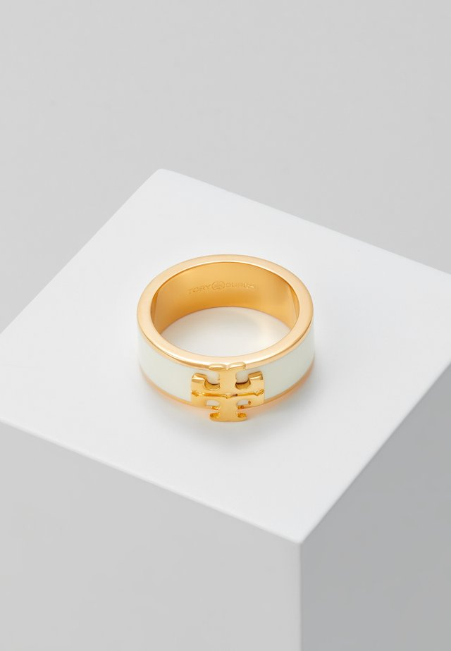 KIRA LOGO RING - Prsten - gold-coloured/new ivory