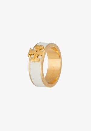 KIRA LOGO RING - Anello - gold-coloured/new ivory