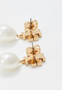 Tory Burch - KIRA PAVE PEARL DROP EARRING - Náušnice - gold-coloured - 2