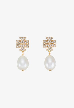 KIRA PAVE PEARL DROP EARRING - Örhänge - gold-coloured