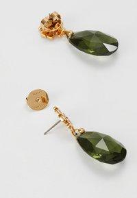 Tory Burch - KIRA DROP EARRING - Earrings - tory gold/olivine - 2