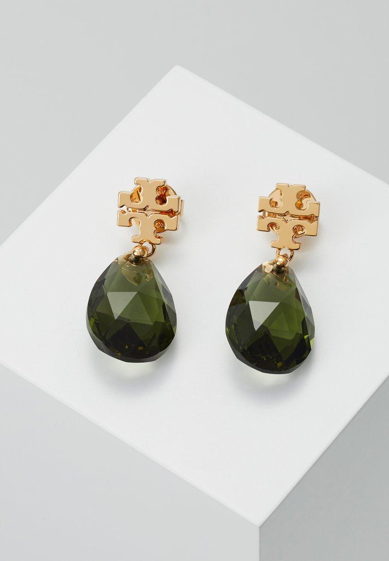 Tory Burch - KIRA DROP EARRING - Earrings - tory gold/olivine