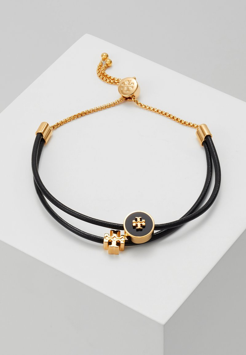 Tory Burch - LOGO SLIDER BRACELET - Armbånd - tory gold-coloured/black