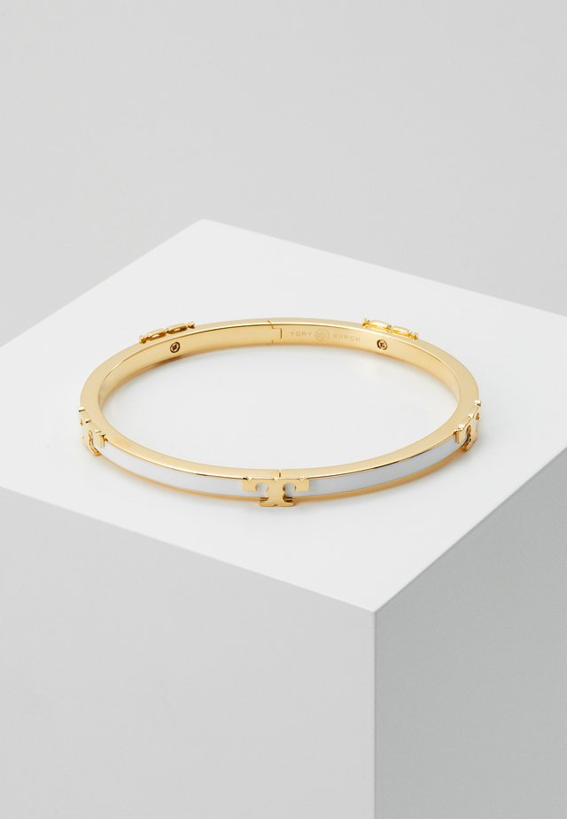 SERIF STACKABLE BRACELET - Armband - gold-coloured/optic white