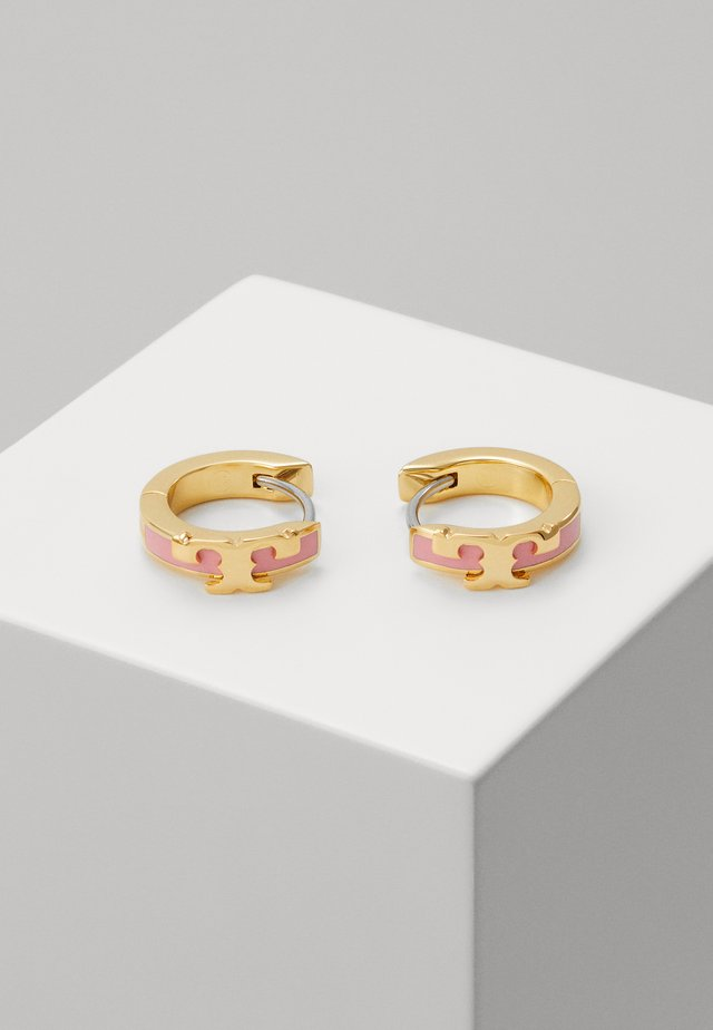 KIRA STACKABLE HUGGIE HOOP EARRING - Ohrringe - gold-coloured/pink city