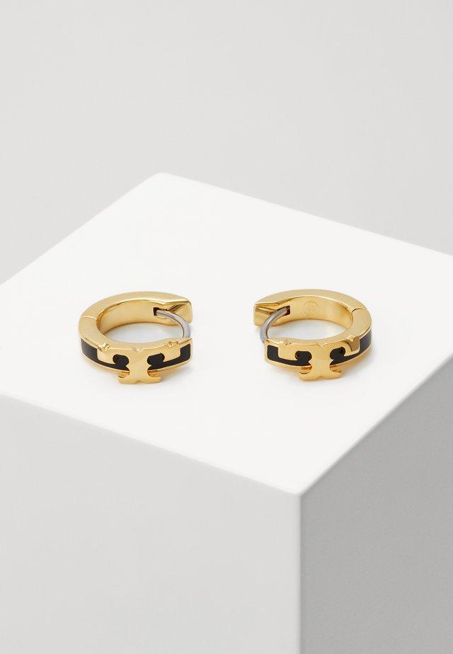 KIRA STACKABLE HUGGIE HOOP EARRING - Øredobber - gold-coloured/black