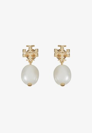 KIRA DROP EARRING - Earrings - gold-coloured/ivory