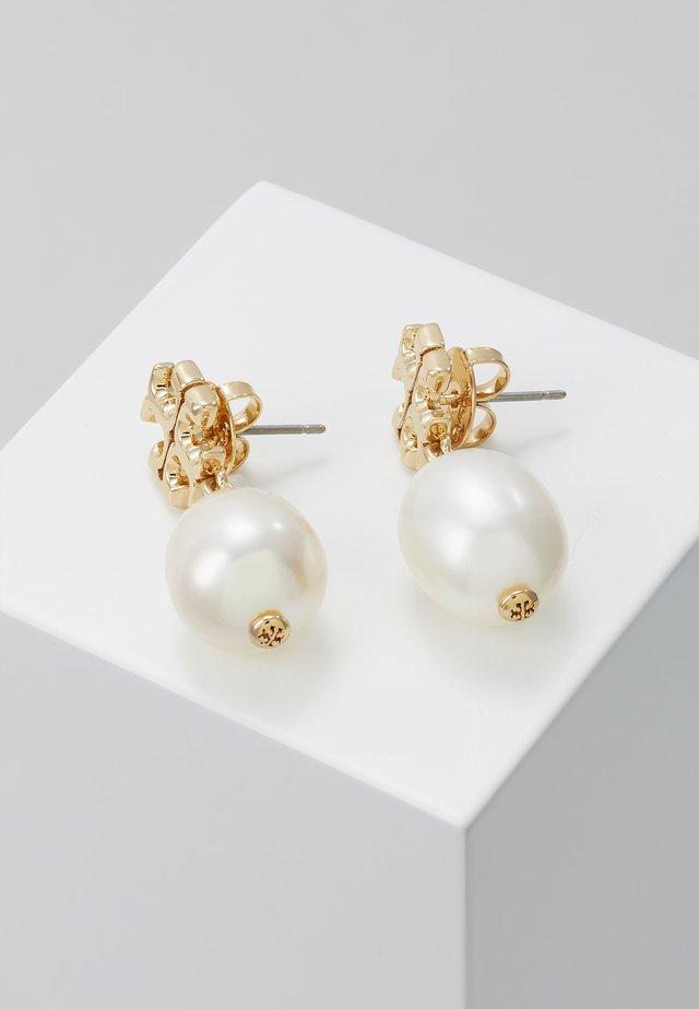 KIRA DROP EARRING - Örhänge - gold-coloured/ivory