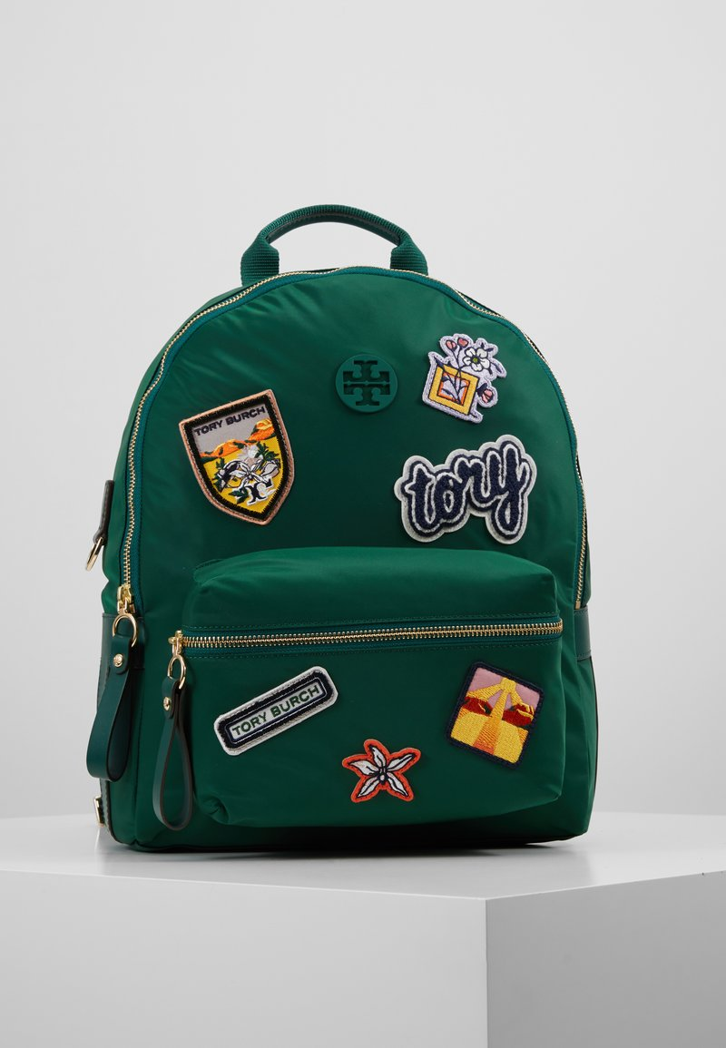 Tory Burch - TILDA PATCHES ZIP BACKPACK - Batoh - malachite