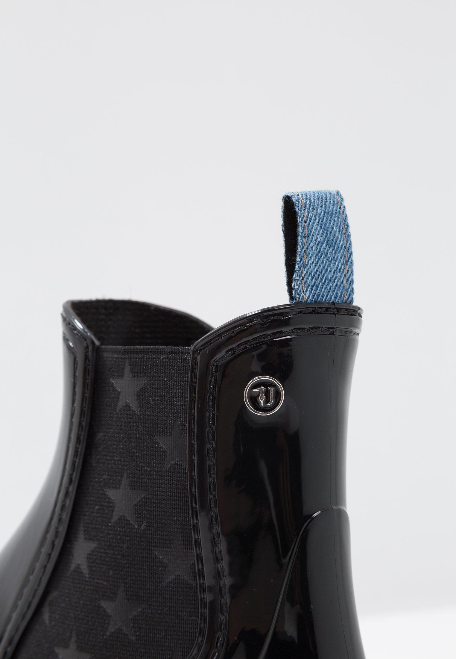 Trussardi Jeans BOOT PRINT ELASTIC - Bottes en caoutchouc black