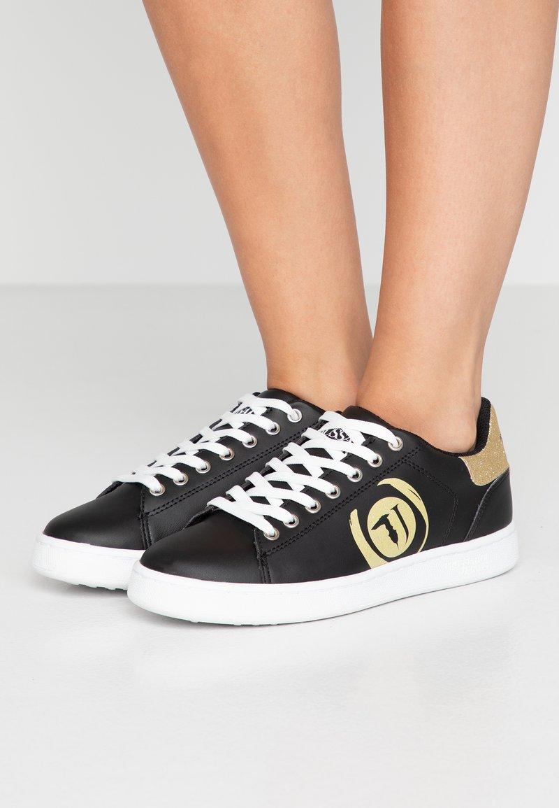Trussardi Jeans - Baskets basses - black/gold