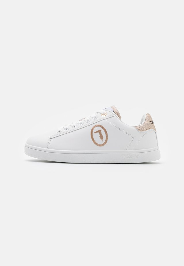 GALIUM LOGO GLIT - Sneakers laag - white/gold