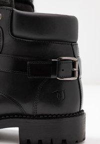 Trussardi Jeans - Stivaletti stringati - black - 2