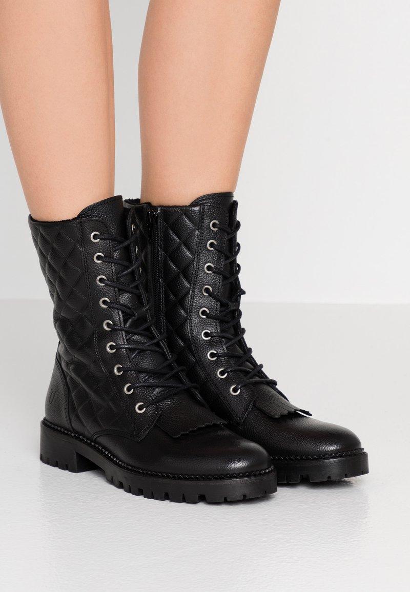 Trussardi Jeans - Lace-up ankle boots - black