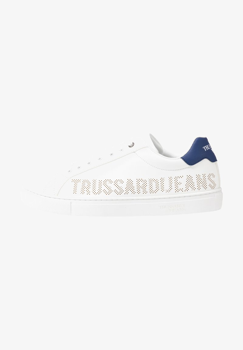 Trussardi Jeans - Trainers - white/blue navy