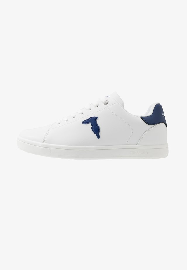 Joggesko - white/blue navy