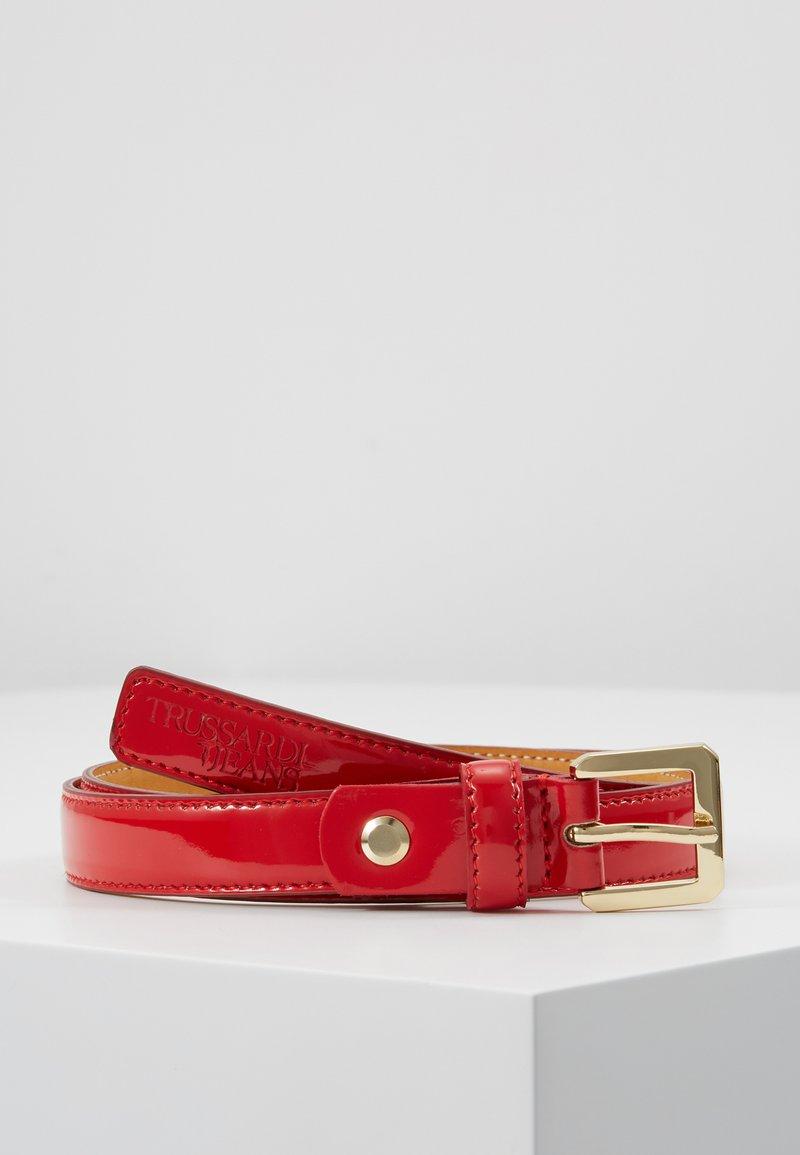 Trussardi Jeans - T-EASY LIGHT BELT - Gürtel - red