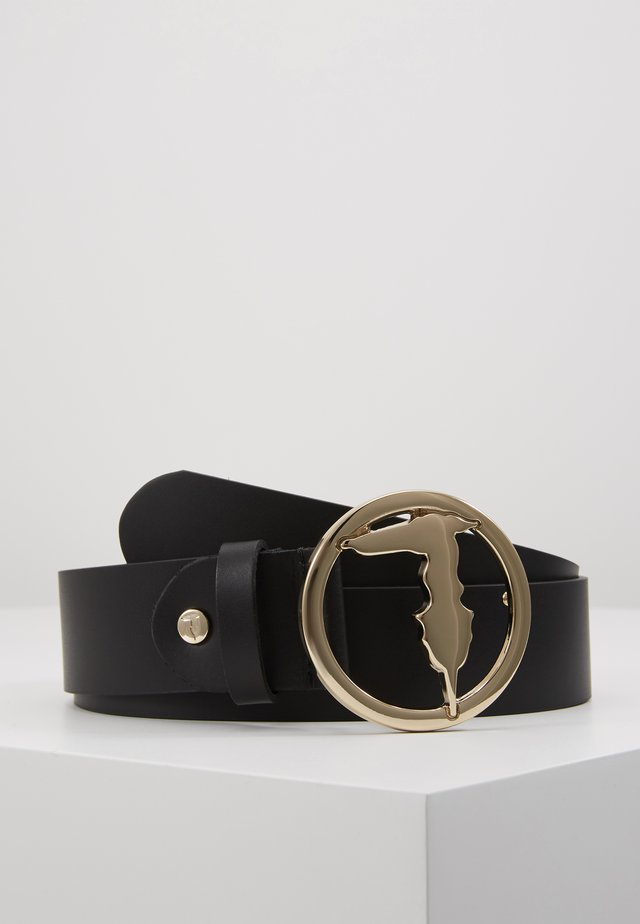 BELT SMOOTH LEVRIERO - Gürtel - black