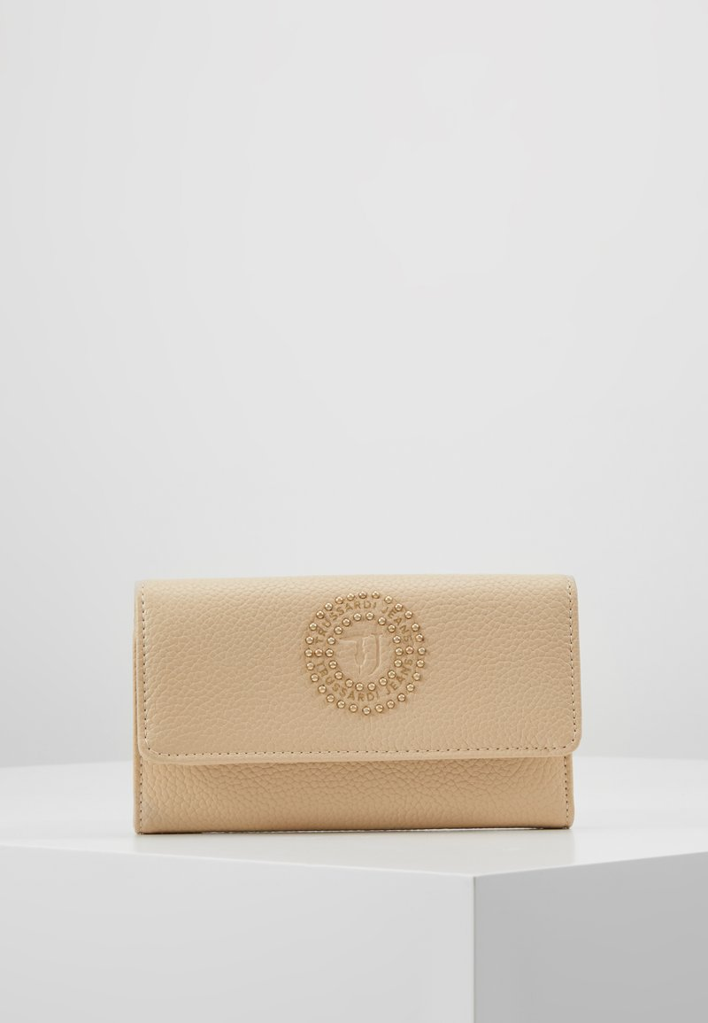 Trussardi Jeans - HARPER TUMBLED BIFOLD - Portefeuille - nude/light gold