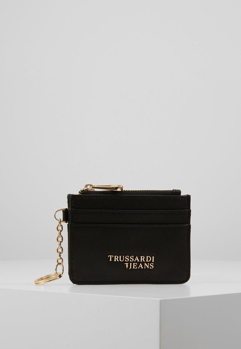 Trussardi Jeans - BELLA ZIP CARD KEYCHAIN SAFFIANO - Geldbörse - black
