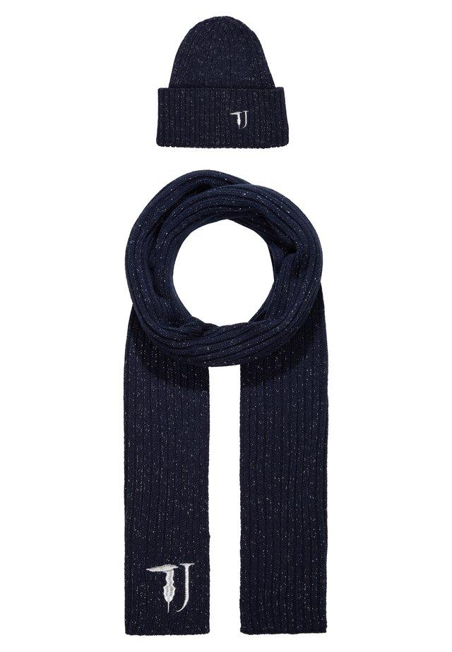 SCARF BEANIE SET - Halsduk - blue/navy/silver