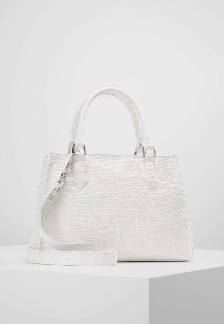 Trussardi Jeans - TOTE SAFFIANO HIGH FREQUE - Bolso de mano - white